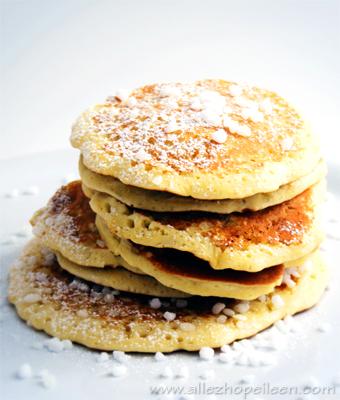 Les pancakes aux perles de sucre