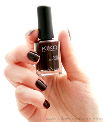 kiko 226 dupe du vernis rouge noir de chanel en moins cher allez hop eileen. Black Bedroom Furniture Sets. Home Design Ideas