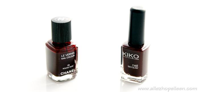 Vernis Rouge Noir de Chanel et Kikko numero 226
