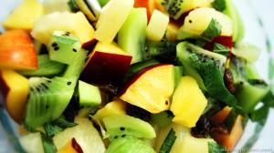 Salade de fruits avec ananas