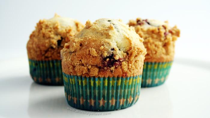 Recette de muffins à la myrtille