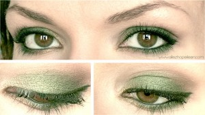 photo tuto maquillage vert mac