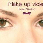 Un peu de violet sur les yeux ? #Sketch de chezMAC {tuto}