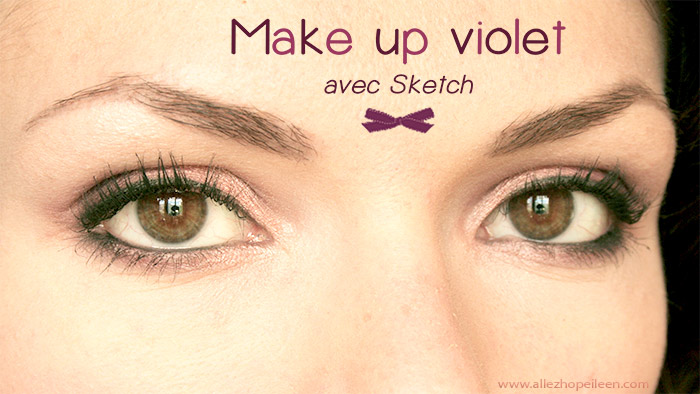 photo maquillage violet avec sketch de mac