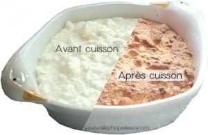 recette gateau magique à la vanille cuisson avant/après