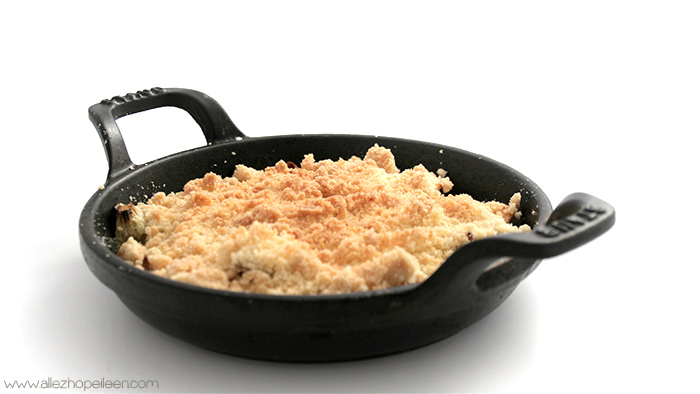 recette crumble pommes-rhubarbe