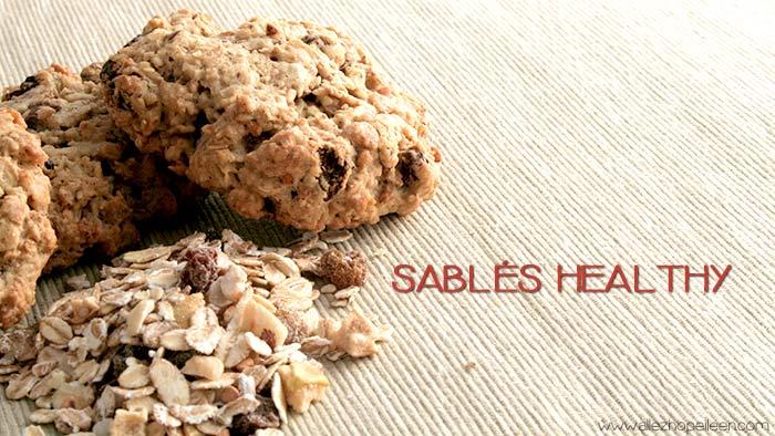 recette de sables healthy aux flocons avoine