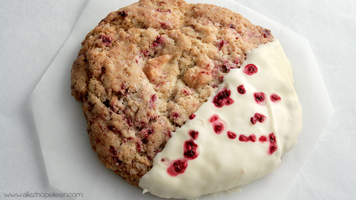 Recette cookies framboise chocola blanc comme Starbucks