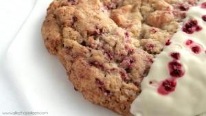 Recette cookies framboise chocola blanc comme Starbucks