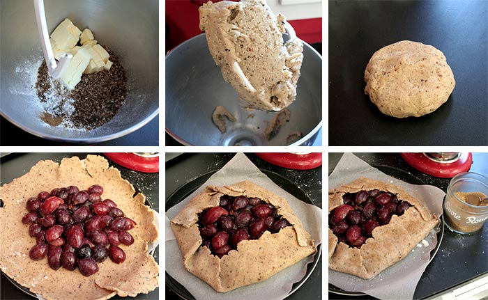 Recette de tarte rustique aux quetsches et pâte aux noix de pécan