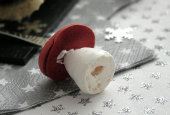 Recette champignon meringue deco buche