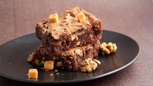 Recette brownie caramel beurre sale noix