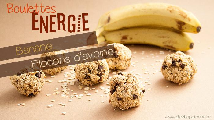 Recette boulettes energie banane flocons avoine
