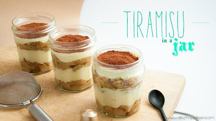Recette tiramisu original in a jar