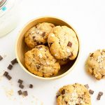 Cookies aux chunks de chocolat et flocons d'avoine