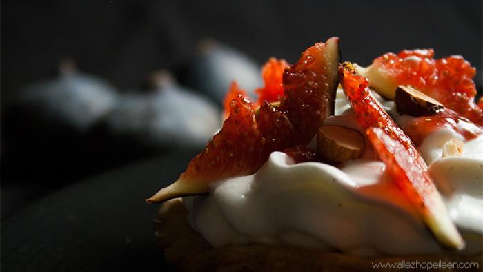 Tarte aux figues a la vanille