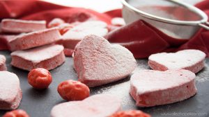 Recette guimauve framboise rose saint valentin