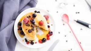 Recette pancakes fluffy aux pepites de chocolat