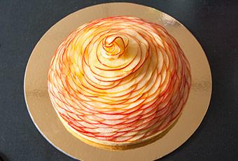 Recette inspiration tarte aux pommes Cedric Grolet