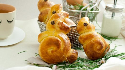 Recette lapins brioche paques