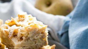 Gateau healthy pommes amandes
